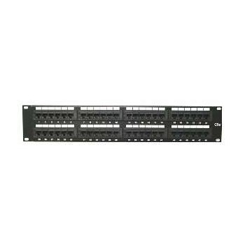 Patch panel LYNX 48port Cat5E, UTP, blok 110, černý