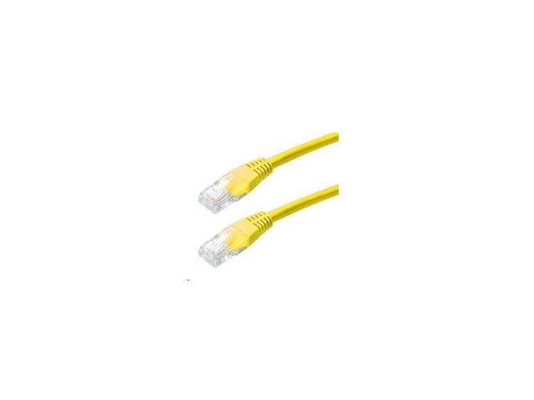 Patch kabel Cat5E, FTP - 1m, žlutý